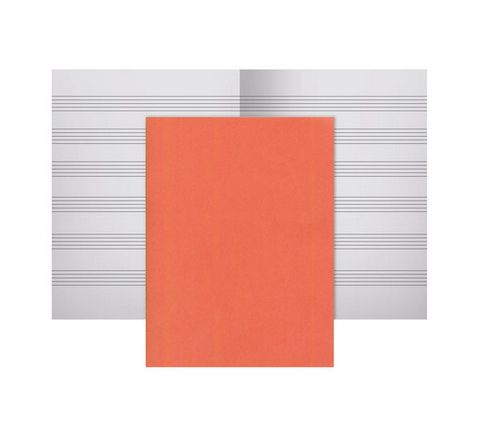 36 Page Music Exercise Book Orange Pack 50