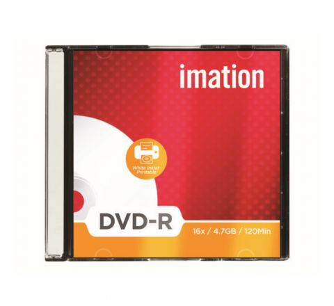 IMATION DVD-R DISCS, 4.7GB, 16X, SLIM JEWEL CASES