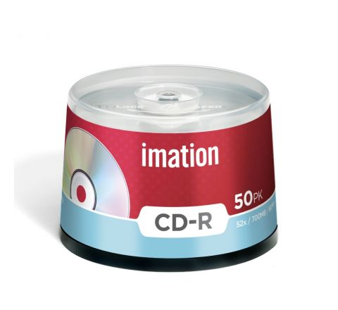IMATION 52X CERTIFIED CD-R 700MB 80 MINUTES 50 PIECES SPINDLE
