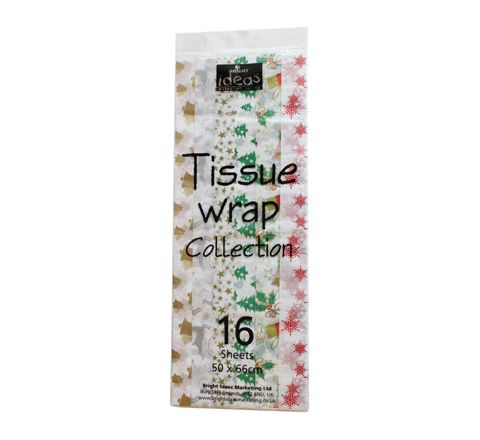 Festive Tissue Paper Assorted Pack 16