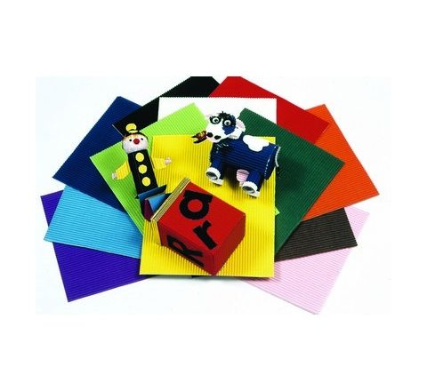 Coloured Corrugated Paper Assorted Pack 12