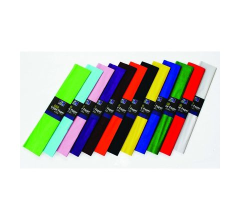 Bleed Crepe Paper Assorted Pack 50