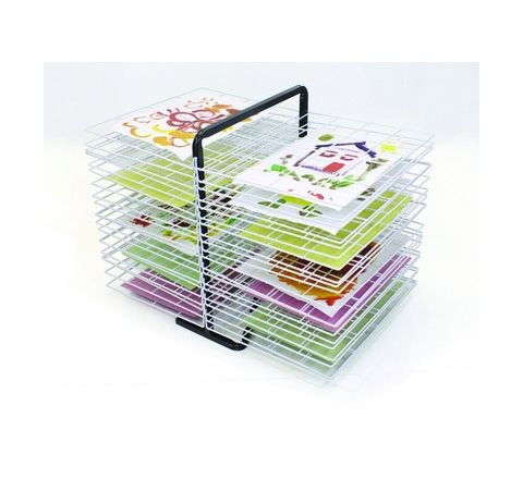 40 Tray Double Sided Drying Rack White/Black Each