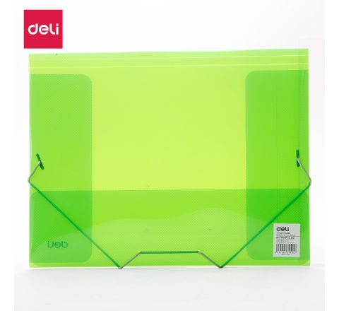 DELI-E39504-A4 ACTION CASE SEMI TRANSPARENT (3FLAP FOLDER) ASST COLOUR