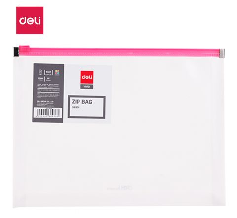 E38976-A5 ZIP BAG TRANSPARENT