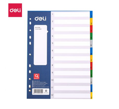 E5725A-A4 12 TAB DIVIDER WITH NUMBER