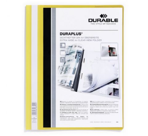 2579-04 DURABLE DURAPLUS PRESENTATION FOLDER A4 SIZE, YELLOW COLOR