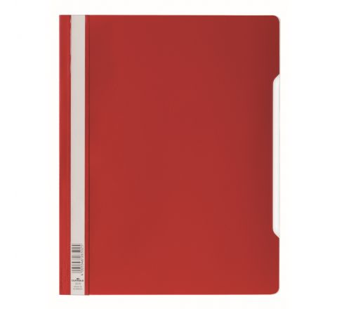 DURABLE CLEAR VIEW FOLDER - RED - 2570-03