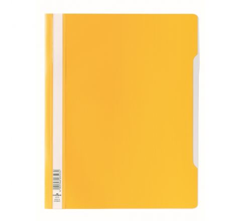 DURABLE CLEAR VIEW FOLDER - YELLOW - 2570-04