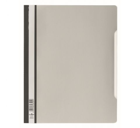 DURABLE CLEAR VIEW FOLDER - GREY - 2570-10