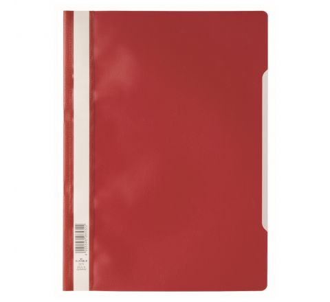 DURABLE 2573-03 CLEAR VIEW FOLDER, RED COLOUR