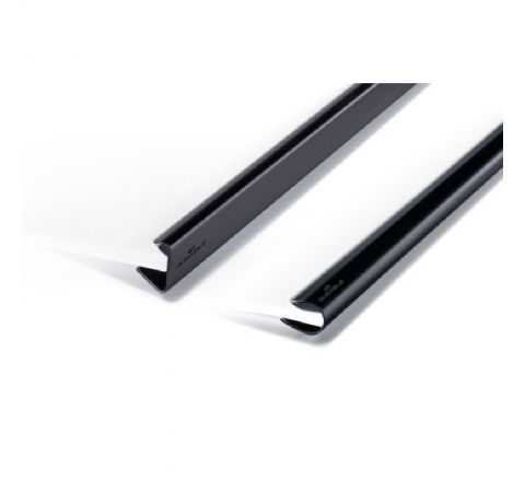 2912-01 DURABLE SPINE BARS A4, 12 MM, 25 PIECES IN PAC, BLACK COLOR