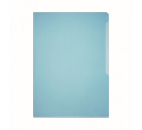 DURABLE 2339-06 TRANSPARENT L SHAPE FOLDER, BLUE COLOUR, 50 PIECES PER PACK