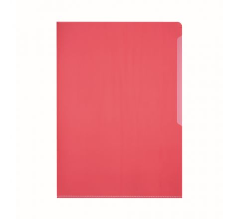 DURABLE 2339-03 TRANSPARENT L SHAPE FOLDER, RED COLOUR, 50 PIECES PER PACK