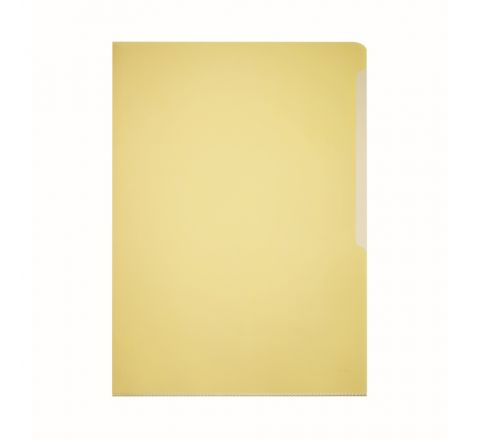 DURABLE 2339-04 TRANSPARENT L SHAPE FOLDER, YELLOW COLOUR, 50 PIECES PER PACK