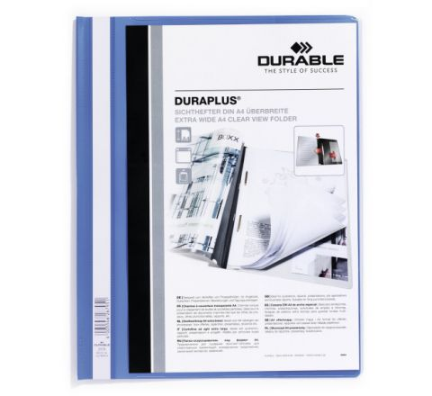 DURABLE 2579-06 PRESENTATION FOLDER, A4 SIZE, BLUE COLOR