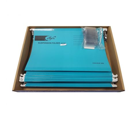 ELFEN 927 DELUXE SUSPENSION FOLDER FULLSCAPE SIZE PACK OF 50 PIECES COLOUR BLUE