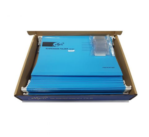 ELFEN 927 DELUXE SUSPENSION FOLDER FULLSCAPE SIZE PACK OF 50 PIECES COLOUR DARK BLUE
