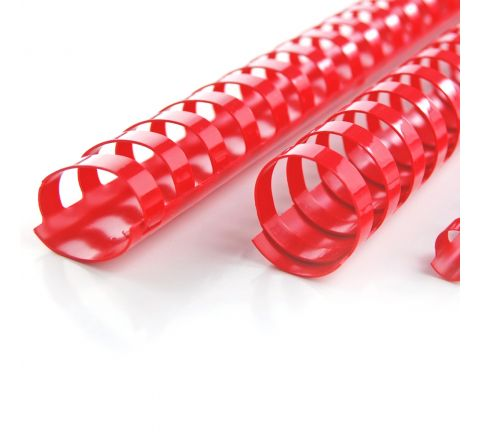 SPIRALS 18 MM RED COLOUR, 100 PIECES PER PACK
