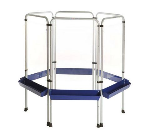 6 Sided Easy Clean Easel Silver/Blue Each