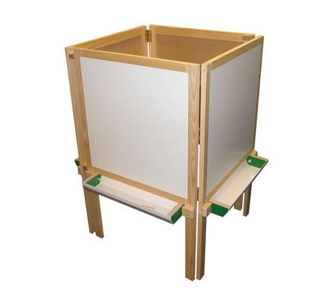 4 Sided Wooden Easel Natural Each