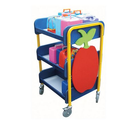 30 Lunchbox Trolley Blue/Yellow Each