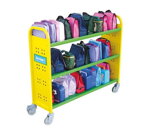 30 Aluminium Slimline Trolley Green/Yellow Each