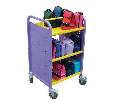 30 Aluminium Lunchbox Trolley Purple/Yellow Each