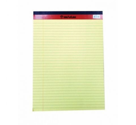 "SINAR  PD02075 SINAR LEGAL PAD YELLOW 5""X8"" 50 SHEETS"