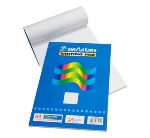 SINAR WRITING PAD, A4 SIZE WHITE COLOUR