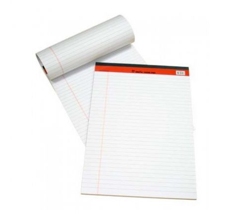 PD02074 SINAR LEGAL PAD, A4 SIZE, WHITE COLOUR, 50 SHEETS PER PAD