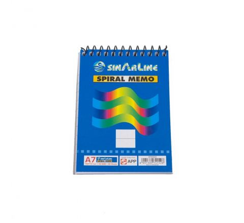 SINAR  SP03053 TOP SPIRAL MEMO PAD A7 80 SHEETS