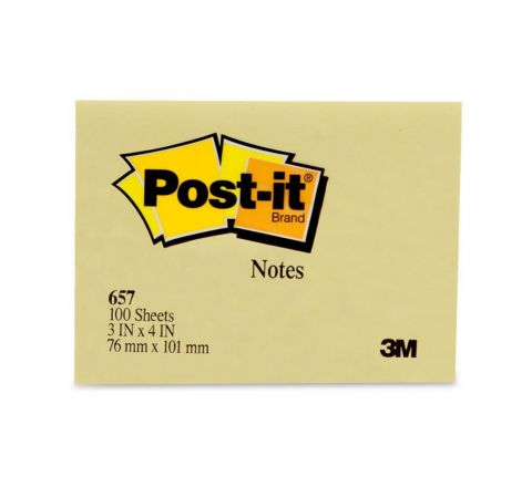 3M  657 POST-IT NOTES 3 X 4