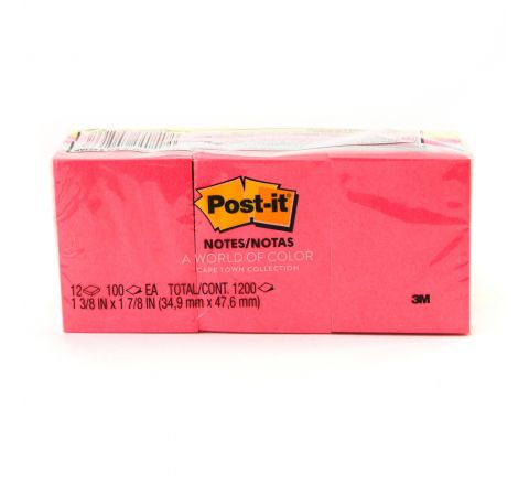 3M  653AN POST-IT NEON COLOURS 12 PADS