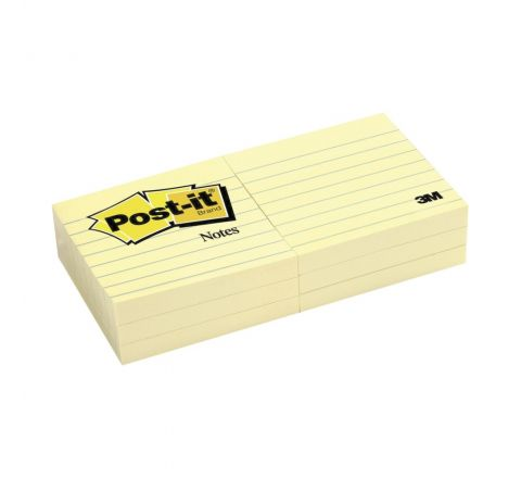 3M  630SS POST-IT NOTES LINED 3 X 3