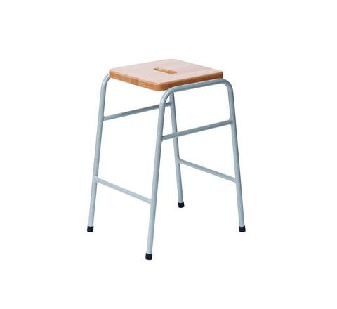 25 Series Stool Solid Wood Beech Top, Duraform Light Speckled Frame And Hand Hole SH470mm