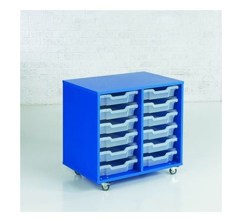 12 Tray Mobile Unit Colour Range B H670 x W710 x D480mm