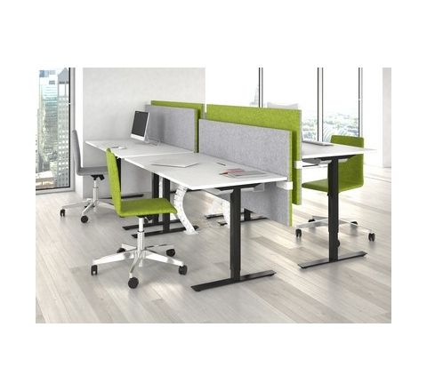 1400W Rectangular Electric Height Adjustable Desk
