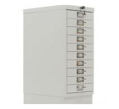 10 Drawer Multi Drawer Cabinet Grey