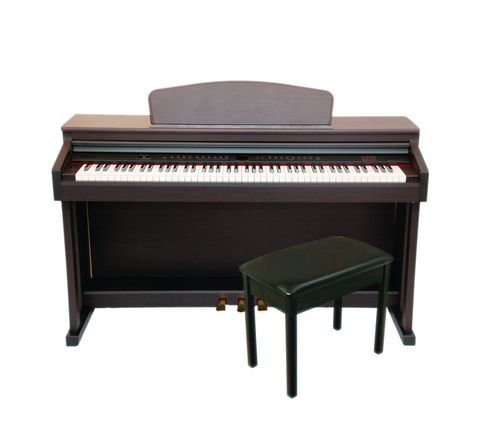 Axus D2 Digital Piano With Bench, Black