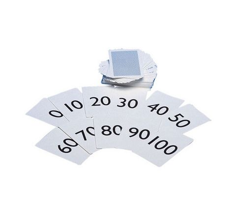 Playing Cards Numbered 0-100 White/Black Set 101