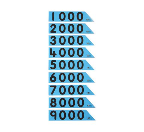 Laminated Place Value Thousand Arrows Pupils Pack 30