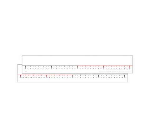 Number Lines -20 To +20 White Pack 30