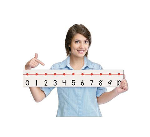 Giant Number Line White Each
