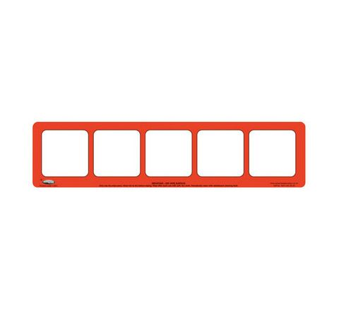 5 Section, Red Drywipe Phoneme Frame Red Pack 5