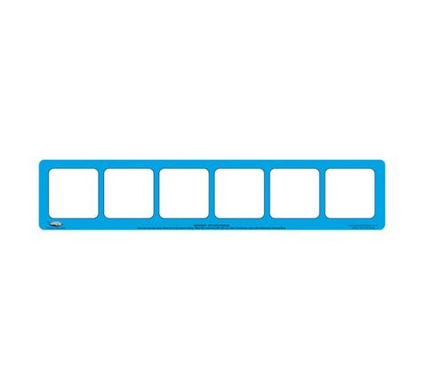 6 Section, Blue Drywipe Phoneme Frame Blue Pack 5