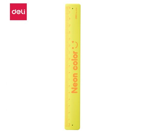 E6206-CARTOON RULER 18 CM NEON  COLOR