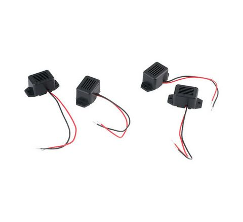 3V Buzzers 3V Black/Red Pack 5
