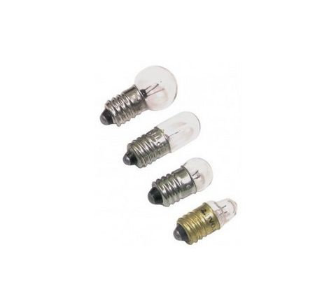 2.5V MES Torch Lamps 2.5V Silver Pack 10