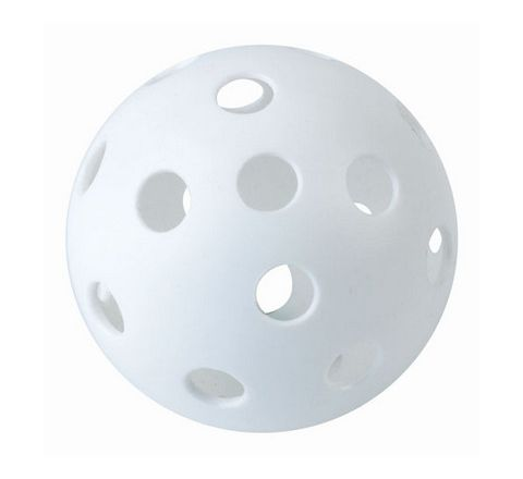 Eurohoc Perforated Hockey Ball White Each